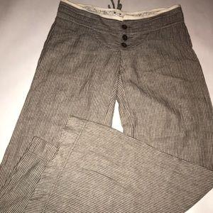 Free People linen wide leg pants